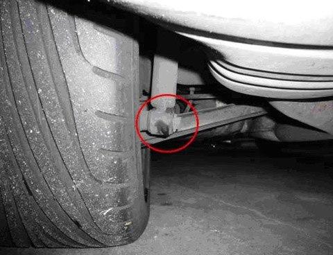 amortiguador en el coche