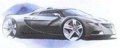 Saab Aero X Concept, bocetos anteriores del increíble superdeportivo sueco