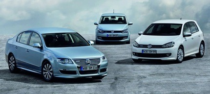 Volkswagen Polo, Golf and Passat BlueMotions