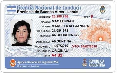 Nacional Licencia De Conducir Argentina
