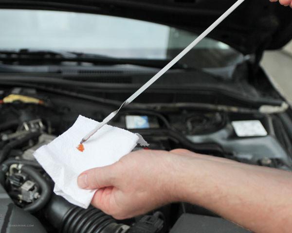 Medir nivel aceite vehiculo