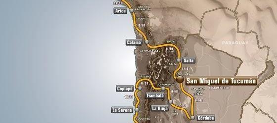 Dakar 2013: Calendario