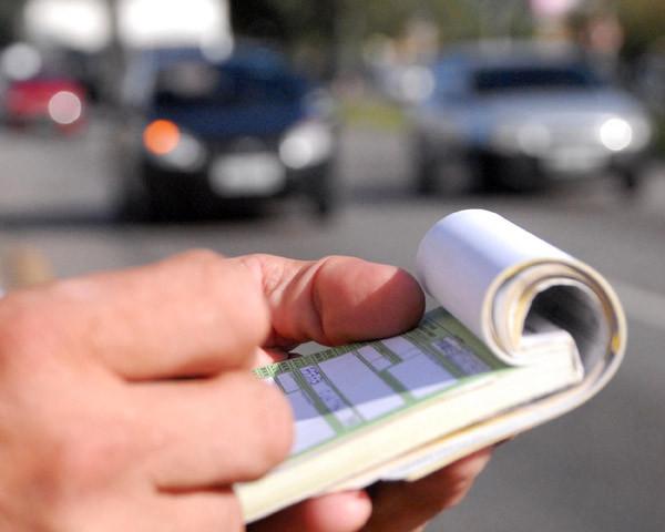 Datos en multa trafico