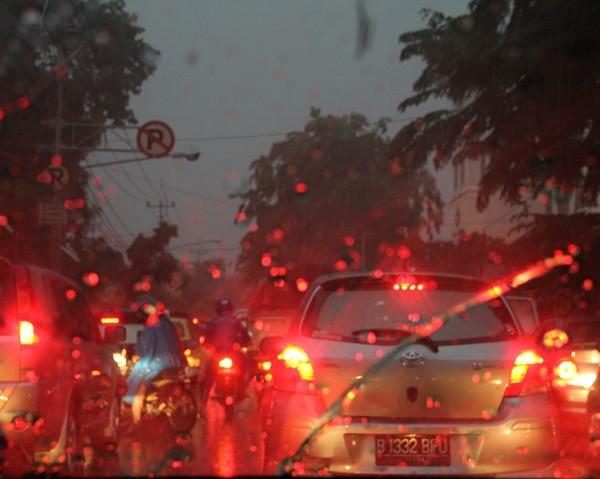 atasco lluvia