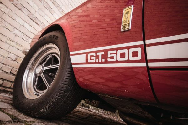 Deportivos clasicos americanos ford mustang gt500 rojo