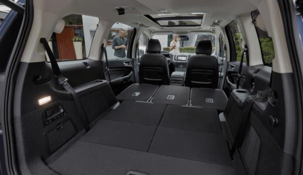 Ford Galaxy 2021 maletero y asientos abatibles