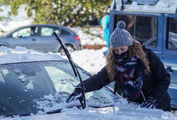 Como hielo nieve coche para no hacer daño