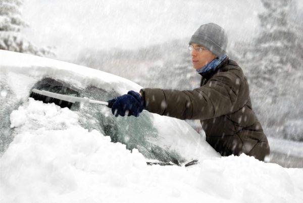 Hielo nieve del coche para no danarlo