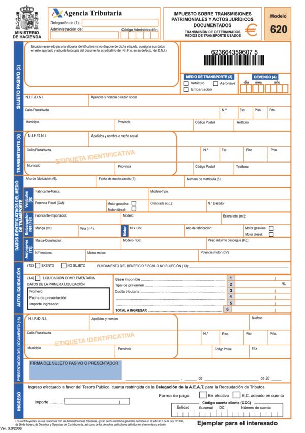 ¿Qué es el Modelo 620 de la DGT? Dónde se puede descargar y cómo pagar este impuesto de modo online Modelo 620 2